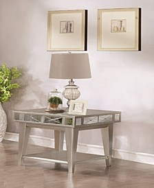 Whittier Mirrored End Table