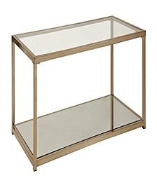 Cruz Coffee Table with Mirror Shelf