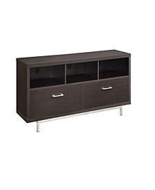 Cliff Low TV Console with 3 Storage Compartments and 2 Drawers