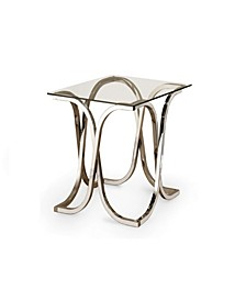 Chevy End Table with Tempered Glass Top
