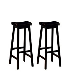 "Braxton Wooden 29"" Bar Stools (Set of 2)"