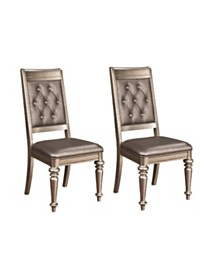 Barry Upholstered Side Chairs with Tufted Back (Set of 2)