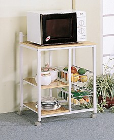 Aamil 3-Shelf Kitchen Cart with 2 Storage Compartments