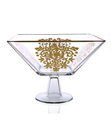 Classic Touch Trifle Bowl with Gold Artwork Design