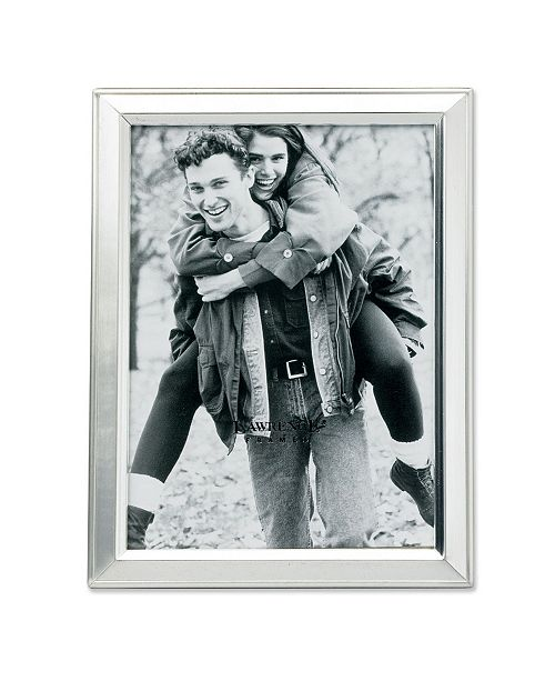 """Lawrence Frames Brushed Silver Plated Metal Picture Frame - 3.5"""" x 5"""""""
