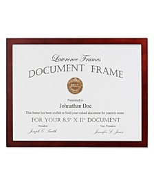 "Walnut Wood Certificate Picture Frame - Gallery Collection - 8.5"" x 11"""