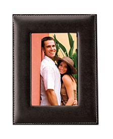 """Lawrence Frames Black Leather Picture Frame - 4"""" x 6"""""""