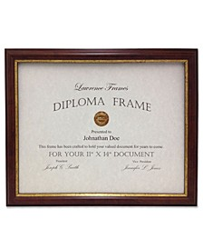 "185111 Walnut and Gold Document Picture Frame - 11"" x 14"""