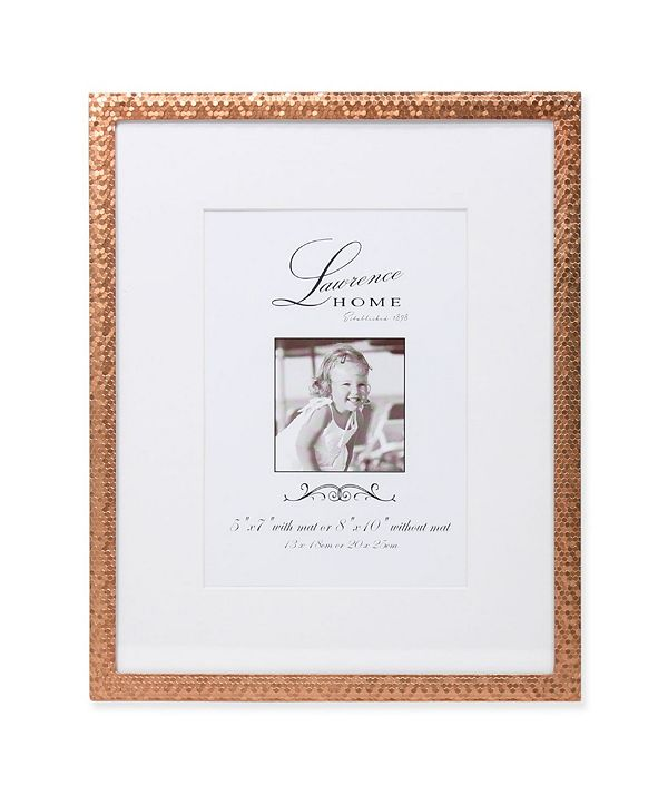 "Lawrence Frames Rose Gold Shimmer Metal Matted For 5x7 Picture Frame - 8"" x 10"""