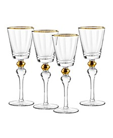Dominion Gold Wine Glasses, Set Of 4