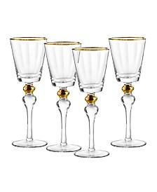 Qualia Glass Dominion Gold Wine Glasses, Set Of 4