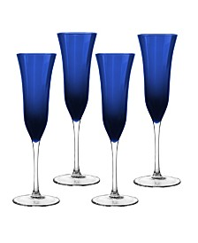 Qualia Glass Meridian Flutes, Set Of 4