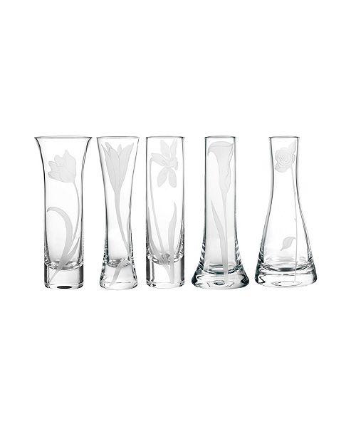Qualia Glass Bouquet Glass Budvases, Set Of 5