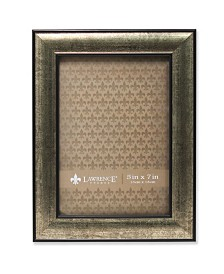 "Lawrence Frames Domed Burnished Silver and Black Picture Frame - 5"" x 7"""