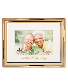 """Lawrence Frames Gold Metal Picture Frame - 50Th Anniversary - 4""""X6"""""""