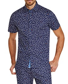 Men's Slim-Fit Stretch Dot Short Sleeve Shirt