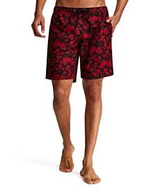 Tallia Men's Modern-Fit Floral Swim Trunks