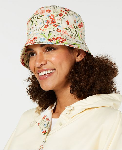 Totes Printed Bucket Rain Hat