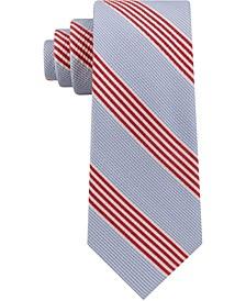 Men's Seersucker Stripe Silk Tie