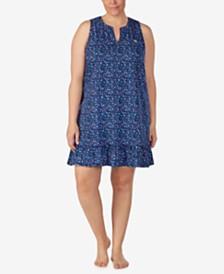 Lauren Ralph Lauren Plus Size Cotton Knit Nightgown