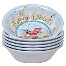 Ocean View Melamine 6-Pc. All Purpose Bowl Set