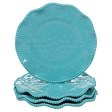 Perlette Teal Melamine 4-Pc. Salad Plate Set