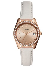 Fossil Women's Scarlette Mini Sand Leather Strap Watch 32mm