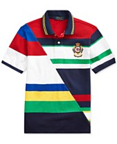 0b09aff8 Polo Ralph Lauren Big Boys Striped Cotton Mesh Polo Shirt