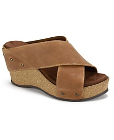 White Mountain Cuttler Wedge Sandals
