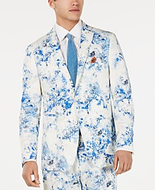 Tallia Splatter Cotton Slim Fit Sportcoat