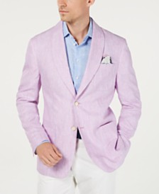 Tallia Men's Slim-Fit Pink/Blue Stripe Sport Coat