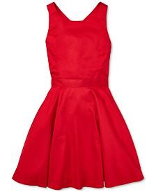 Polo Ralph Lauren Big Girls Crossback Cotton Satin Dress