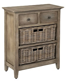 East At Main's Stratton Rattan Nightstand