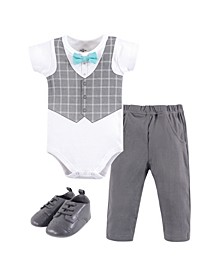 Bodysuit, Pant and Shoe Set, 0-18 months