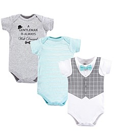 Cotton Bodysuits, 3 Pack, 0-24 months