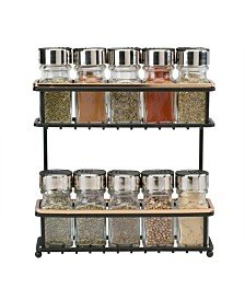 Macbeth Collection 2 Tier Slim Line Spice Rack