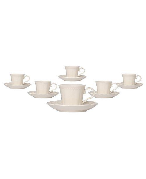 Red Vanilla Classic Espresso Cup Saucer, Set of 6