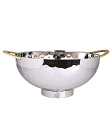 """10"""" Stainless Steel Salad Bowl with Mosaic Handles"""