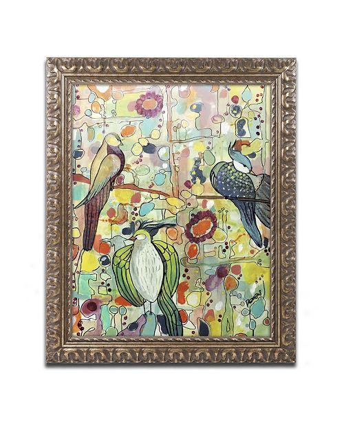 """Trademark Global Sylvie Demers 'Assemblee' Ornate Framed Art - 20"""" x 16"""" x 0.5"""""""