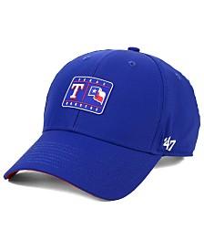 '47 Brand Texas Rangers Silicone Patch MVP Adjustable Cap
