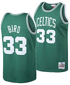 Big Boys Larry Bird Boston Celtics Hardwood Classic Swingman Jersey