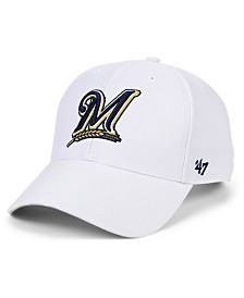 '47 Brand Milwaukee Brewers White MVP Cap