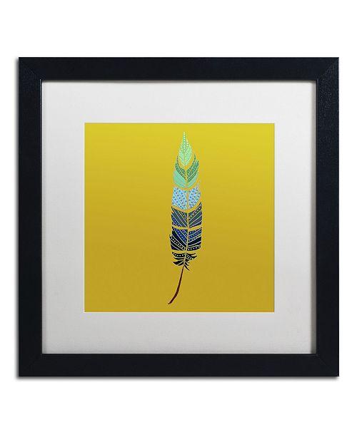 "Trademark Global Sylvie Demers 'Plume 2' Matted Framed Art - 16"" x 16"" x 0.5"""