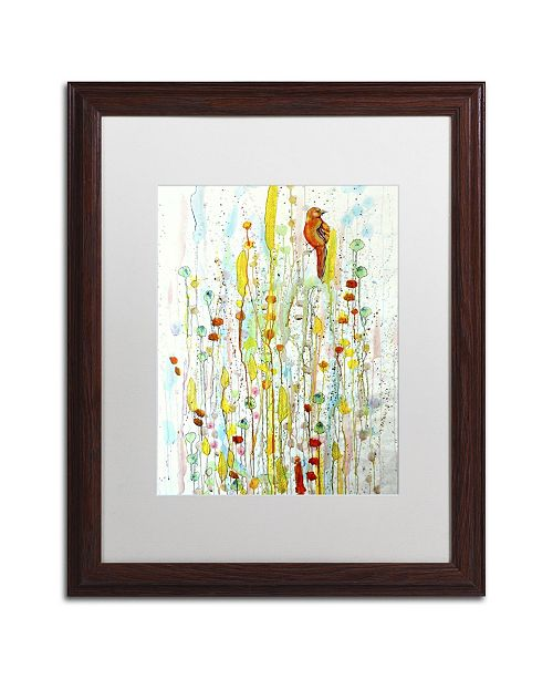 "Trademark Global Sylvie Demers 'Pause' Matted Framed Art - 20"" x 16"" x 0.5"""