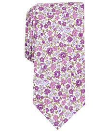 Bar III Men's Douglas Floral Skinny Tie, Created for Macy's
