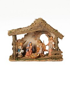 Roman Fontanini 5 Piece Nativity Set with 10 Inch Stable