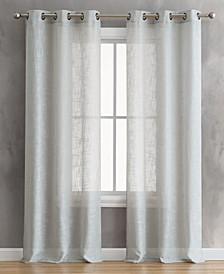 "Olivia 76"" x 84"" Grommet Window Curtain Pairs"