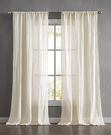"""Charter Crushed 100"""" x 84"""" Rod Pocket Window Curtain Pairs"""