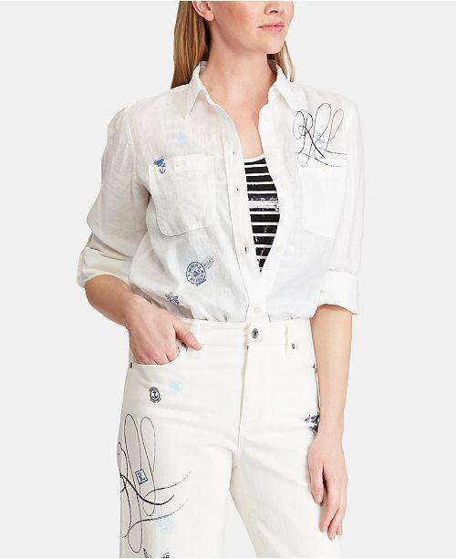 Lauren Ralph Lauren Graphic Linen Shirt