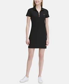 Calvin Klein Short-Sleeve Zip-Up Dress